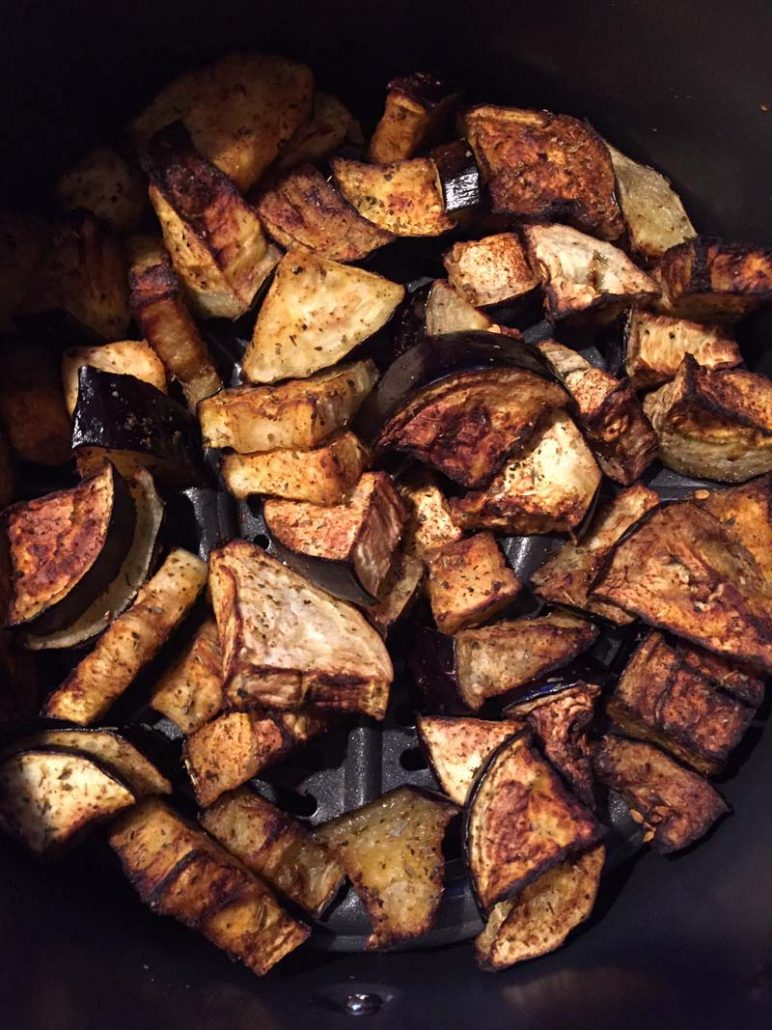 air fryer roasted eggplant