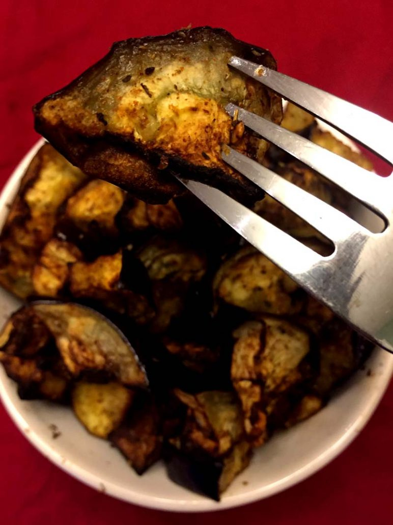 crispy air fryer eggplant