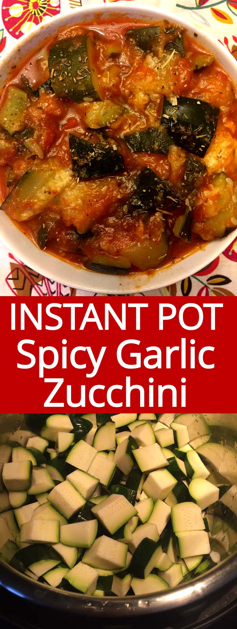 This Instant Pot zucchini is amazing! So easy to make and so full of flavor! Healthy and yummy!
