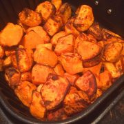 Air Fryer Roasted Sweet Potatoes