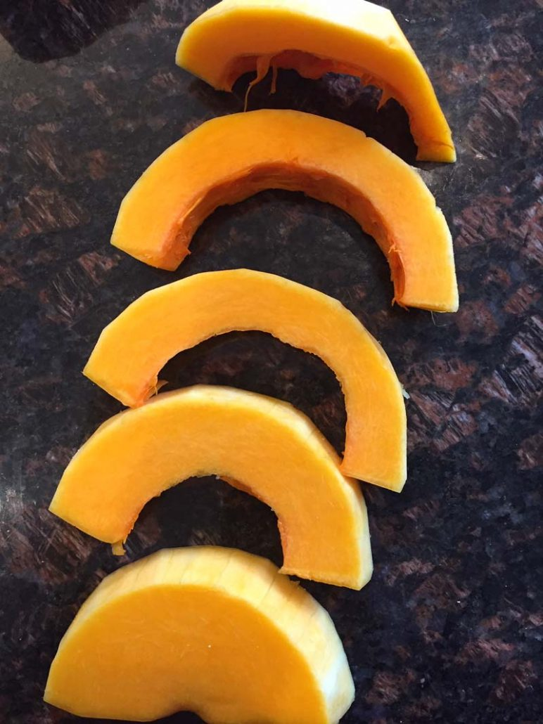 sliced butternut squash
