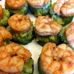 Shrimp Avocado Cucumber Bites Appetizer (Keto)