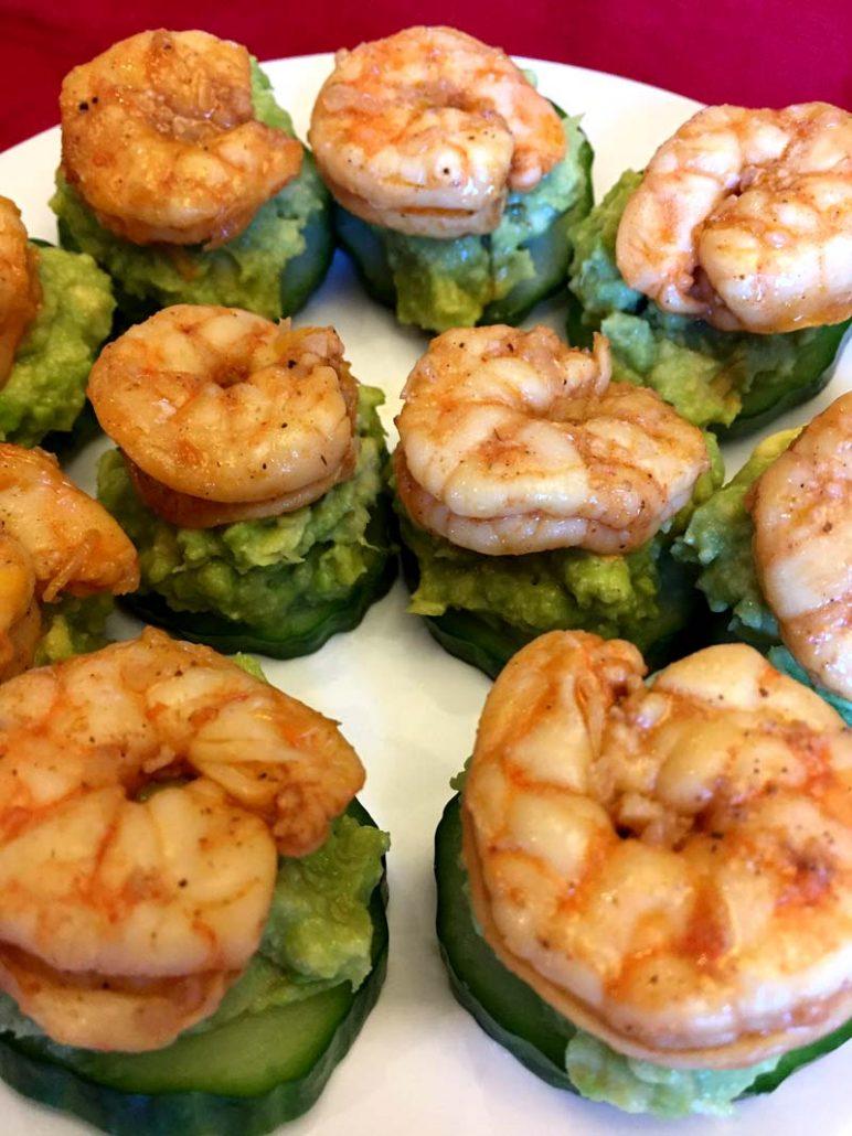 Cucumber Avocado Shrimp Keto Appetizer