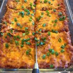 Enchilada Casserole With Ground Beef And Refried Beans