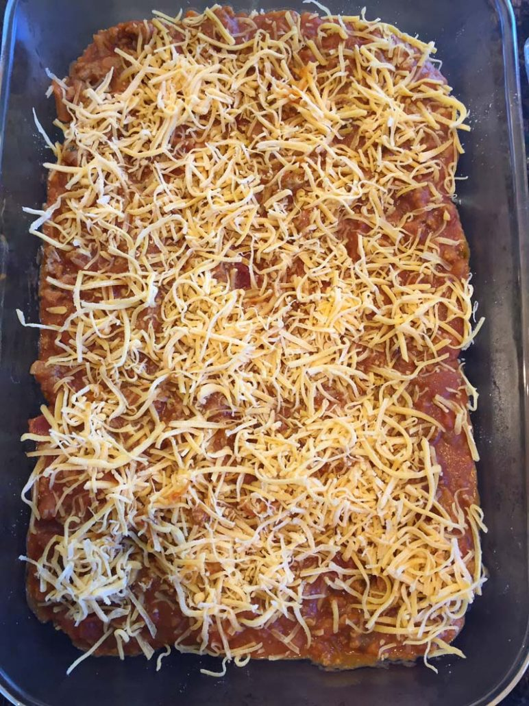 enchilada casserole shredded cheese
