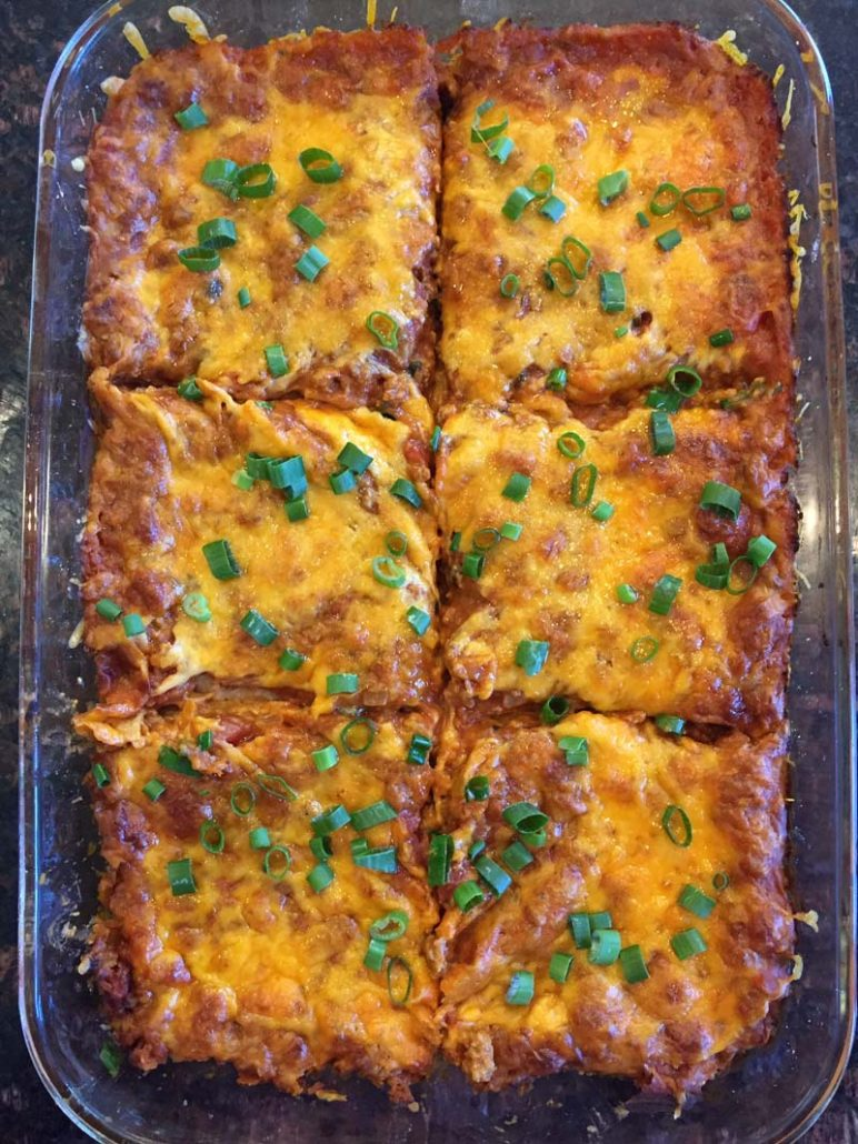 easy Mexican enchilada casserole recipe