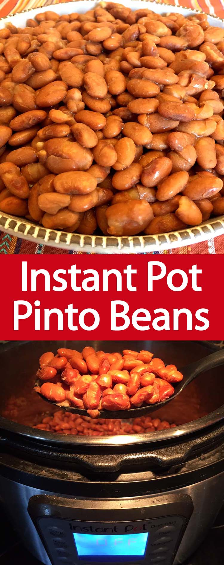 These Instant Pot pinto beans are amazing! No soaking needed, so easy! Once you try cooking pinto beans in the Instant Pot, you'll never want to eat the canned ones!