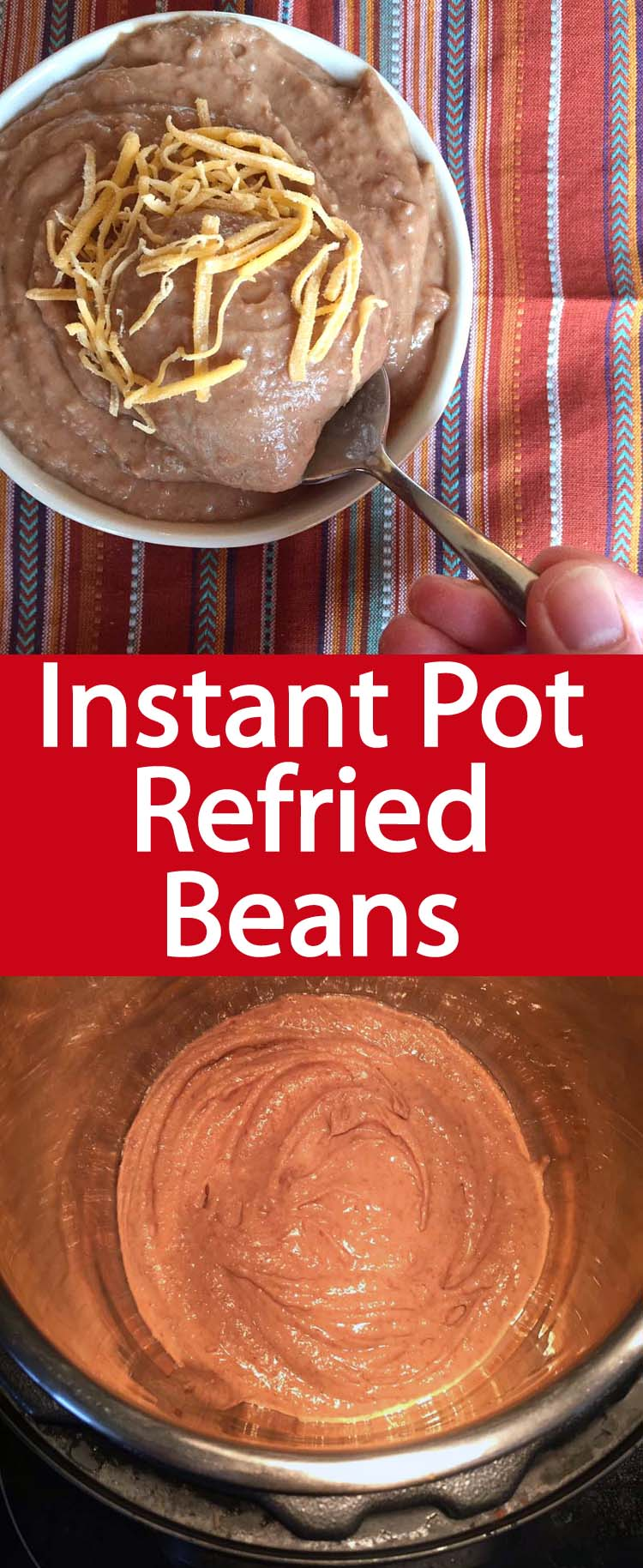 These Instant Pot refried beans are amazing! Once you try making refried beans from scratch, you'll never want to eat ones from the can! Instant Pot is a true game changer!