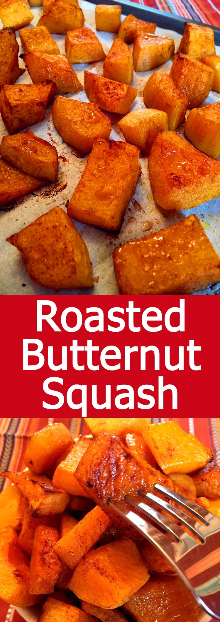 This roasted butternut squash is amazing! So good, it's like a vegetable candy!
