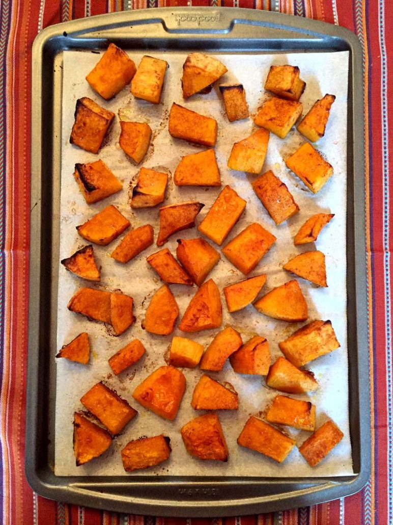 how to bake butternut squash in the oven