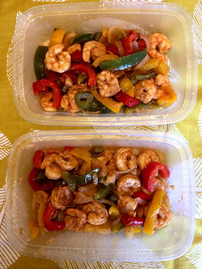 Shrimp Fajitas Meal Prep