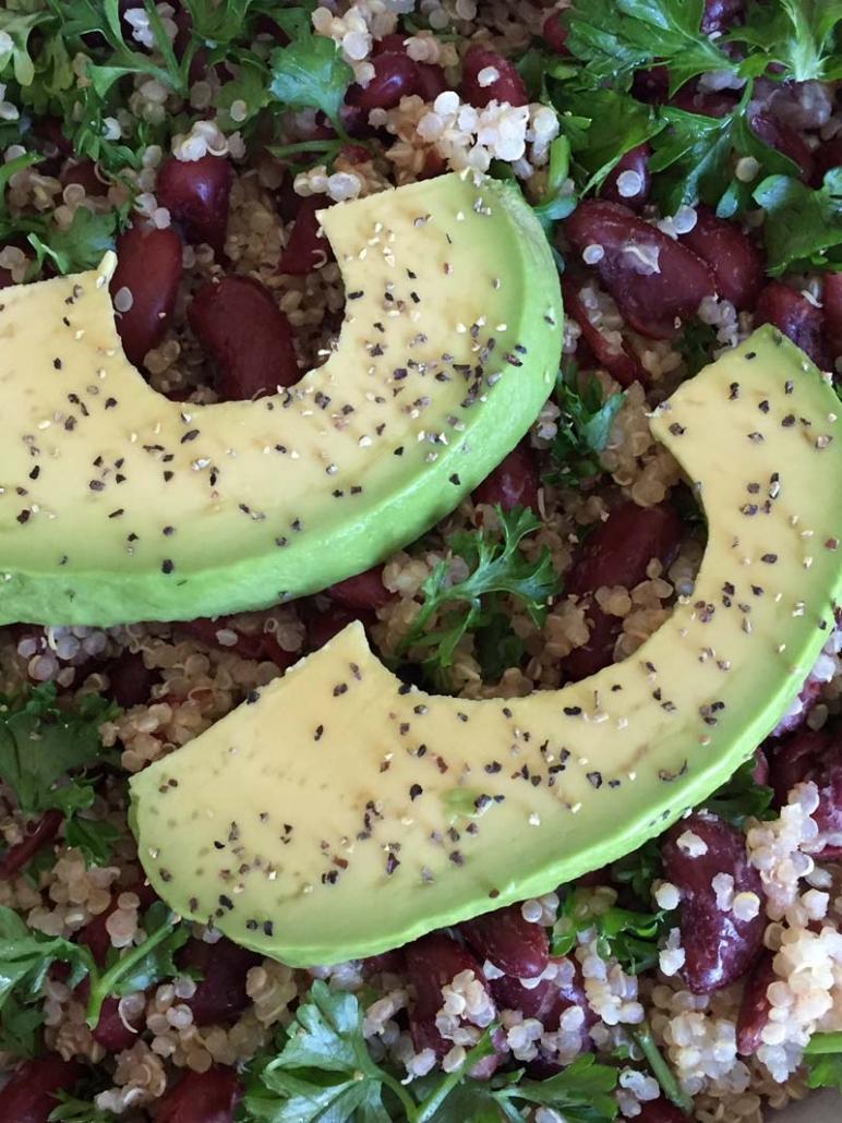 Easy Quinoa Bowl With Beans And Avocado