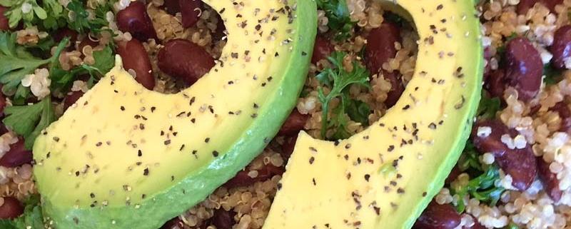 Vegan Avocado Quinoa Bowl
