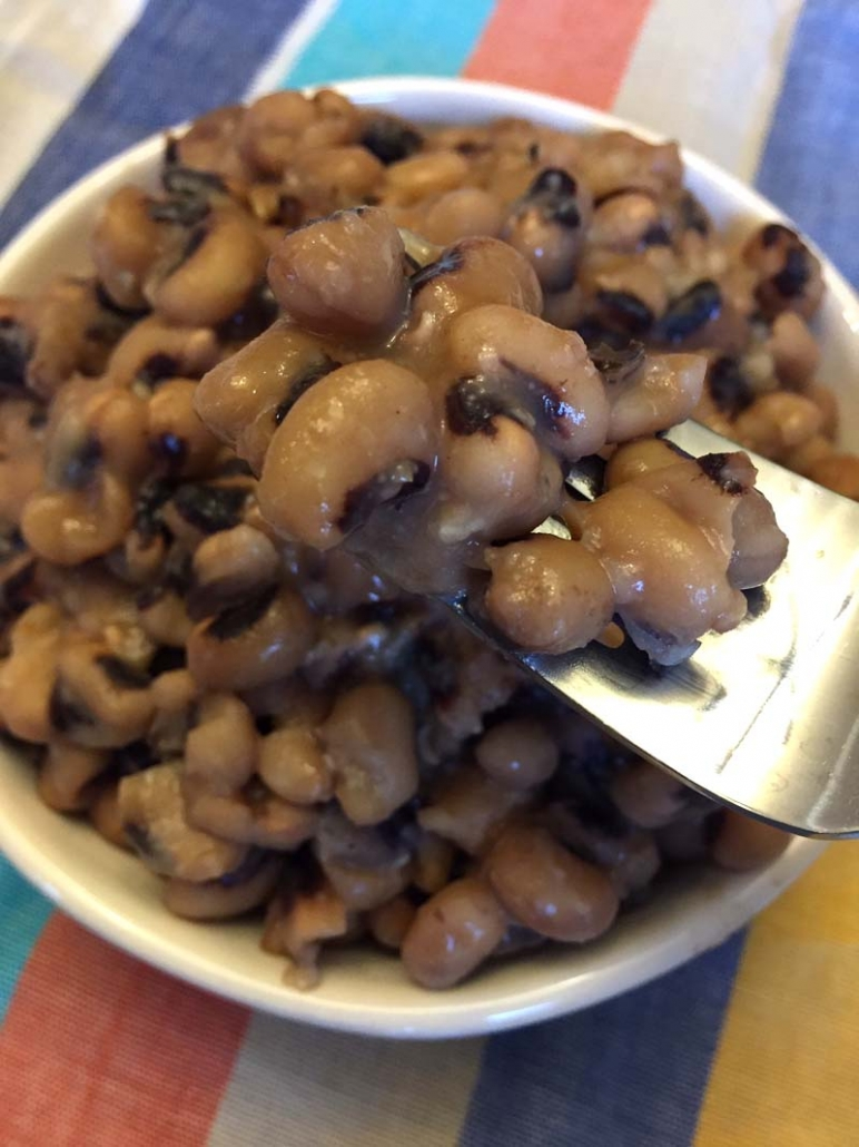 blackeye peas cooked from scratch in Instant Pot