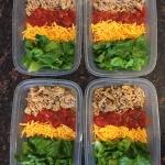 Keto Taco Salad Meal Prep Bowls