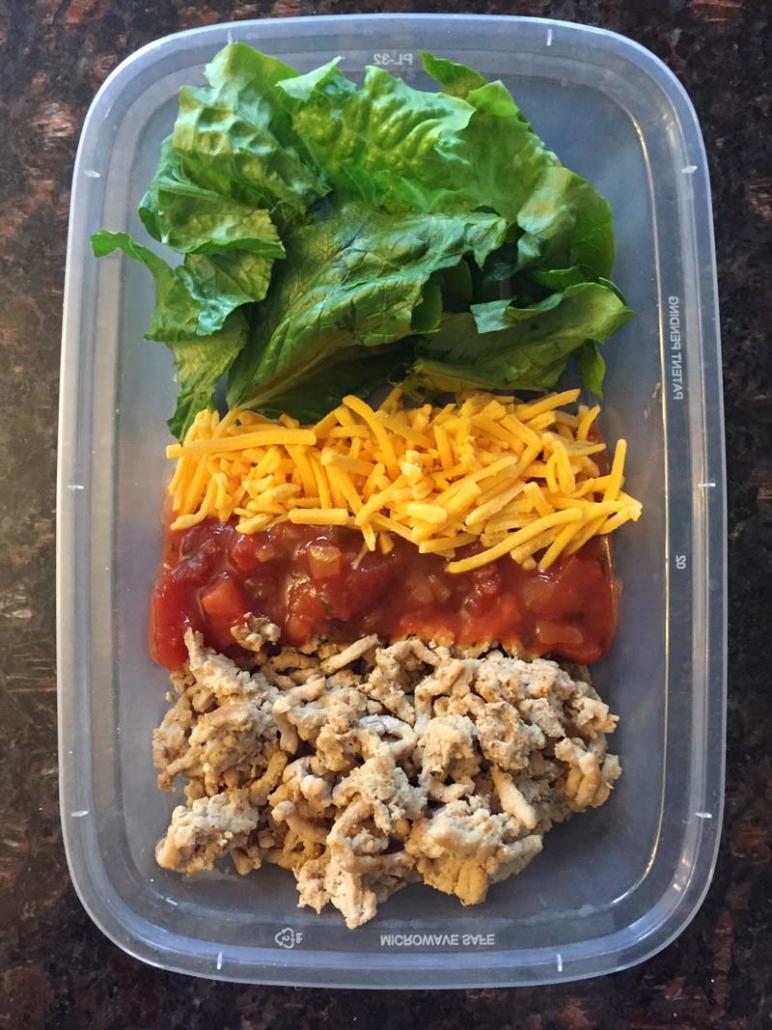 Keto Taco Salad Lunch