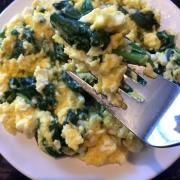 Keto Feta Spinach Scrambled Eggs