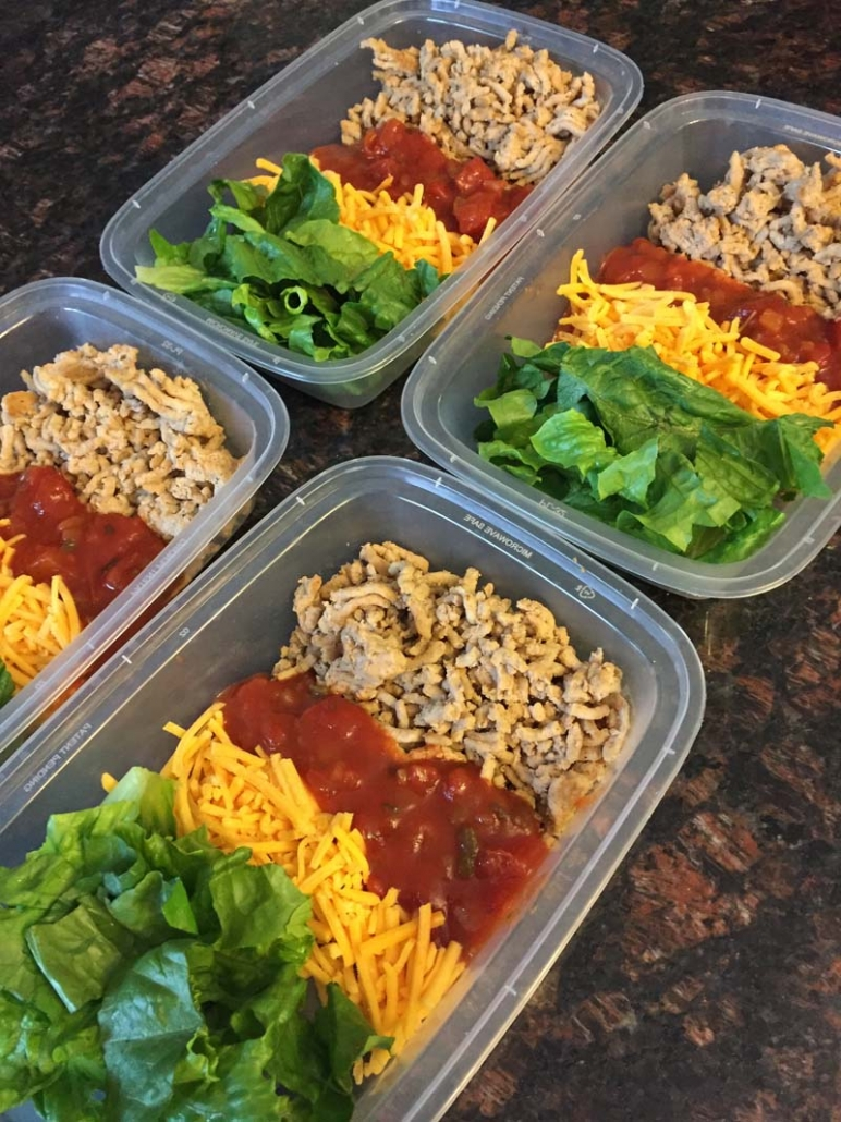 Easy Taco Salad Meal Prep Containers