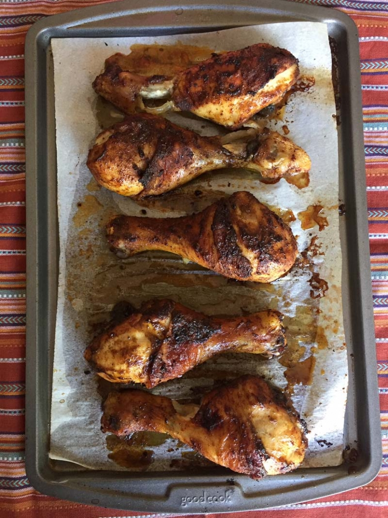baked chicken legs with spices