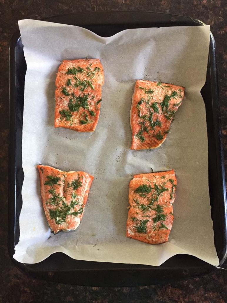 tender slow baked salmon recipe