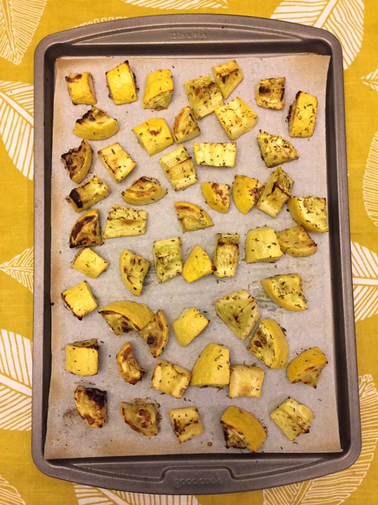 oven roasted yellow summer squash