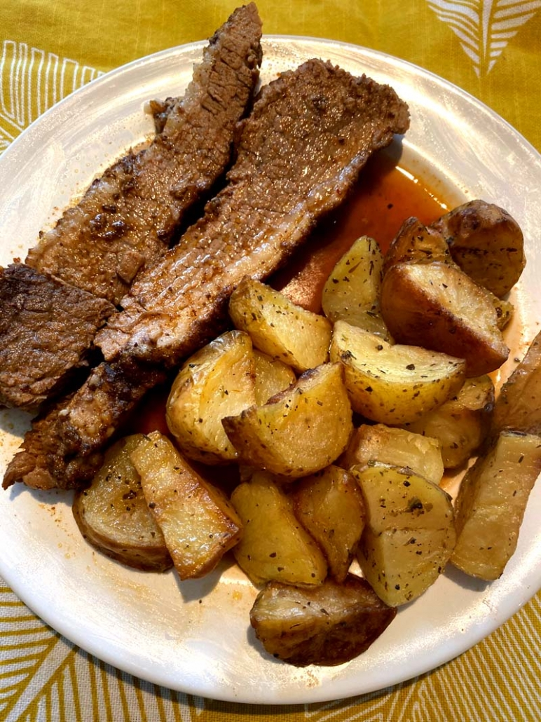 beef brisket with potatoes