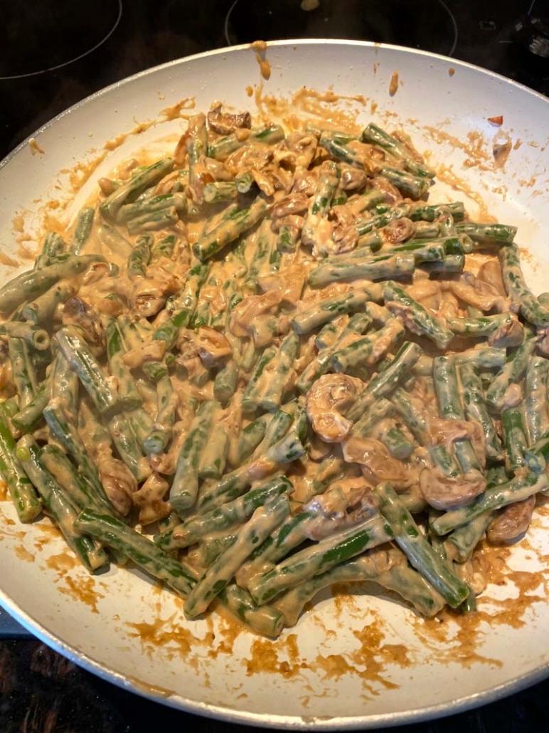making green bean casserole from scratch