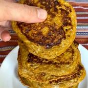 2 ingredient sweet potato pancakes - healthy, gluten-free, paleo recipe