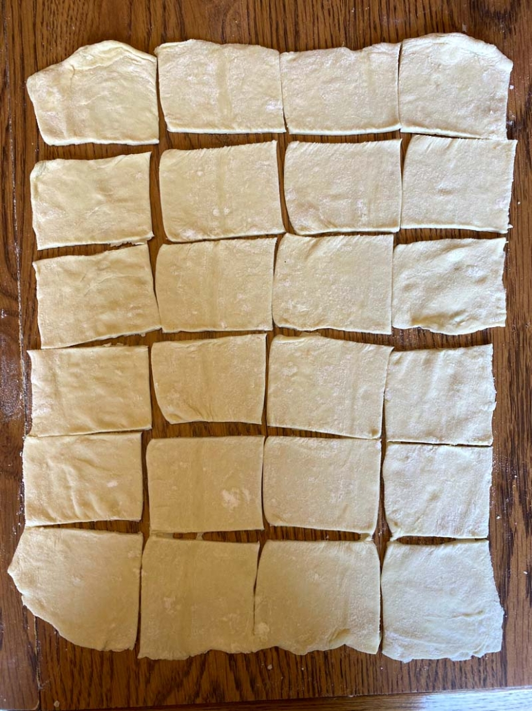 puff pastry squares