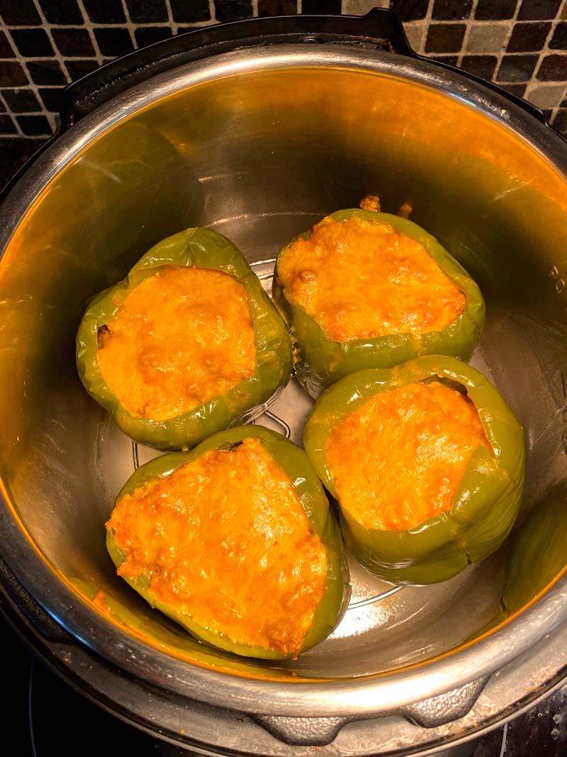 Instant Pot Keto Stuffed Peppers With Cauliflower Rice Melanie Cooks