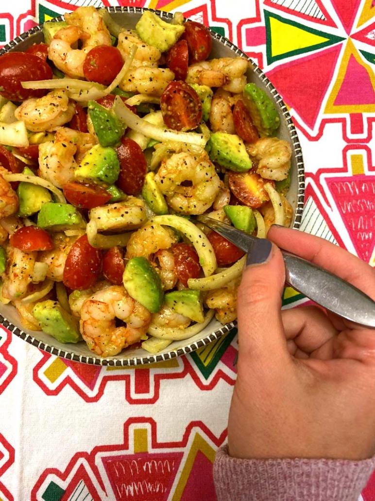Keto Shrimp And Avocado Salad