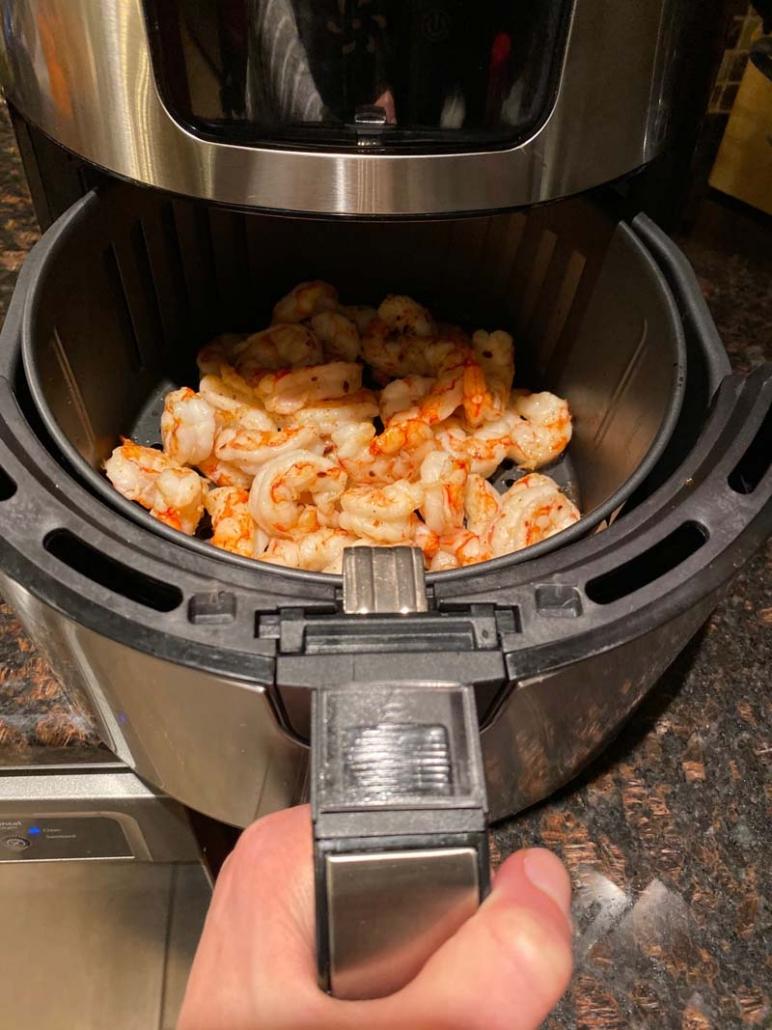 cooking frozen shrimp in the air fryer