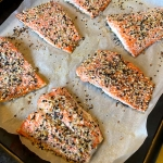 Baked Salmon With Everything Bagel Seasoning