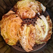 Air Fryer Roasted Cabbage Wedges