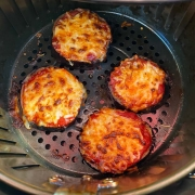Air Fryer Eggplant Pizzas