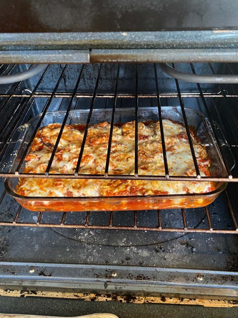 Eggplant Parmesan in the oven
